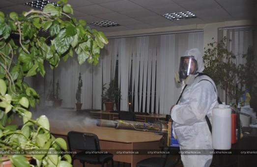В Харьковских школах проводят дезинфекцию помещений