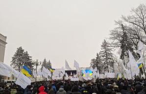 В Киеве под Верховной Рады митингуют сотрудники «Укрлендфарминга»