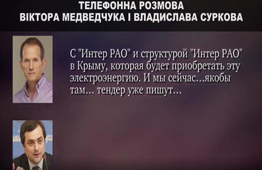 """""""Будем двигаться, бл#"""": Сурков и Медведчук в 2014 г. обсуждали поставки электроэнергии в Крым и обмен пленными. Аудио"""