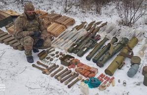 СБУ уничтожила схрон боевиков на Луганщине
