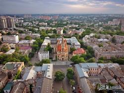 В Одессе показали с высоты немецкую Кирху (ВИДЕО)