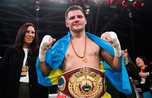 Украинский боксер защитил пояс, нокаутировав соперника