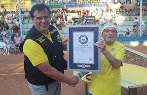 Рекорд Гиннеса: в Украине живет самый пожилой в мире действующий теннисист