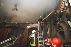 В столице горел столетний костел (Видео)